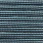 123Paracord Paracord 550 type III Neon Turquoise / Zwart Stripes
