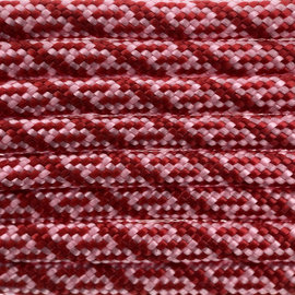 123Paracord Paracord 550 type III Rose Roze / Imperial Rood Helix DNA