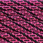 123Paracord Paracord 550 type III Ultra Neon Roze / Zwart Helix DNA