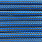 123Paracord Paracord 550 type III Ultra reflective Greece Blauw striped