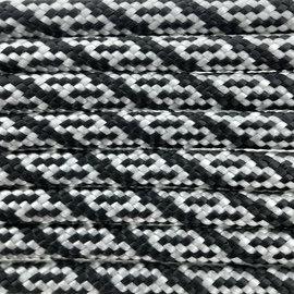 123Paracord Paracord 550 type III Zilver Grijs / Zwart Helix DNA