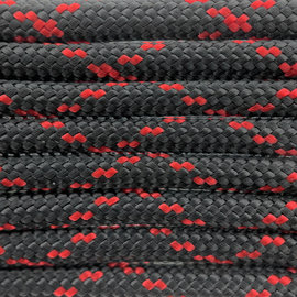 123Paracord Paracord 550 type III Zwart / Imperial Rood X