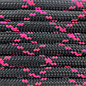 123Paracord Paracord 550 type III Zwart / Neon Roze X