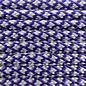 123Paracord Paracord 550 type III Deep paars & zilver grijs Diamond