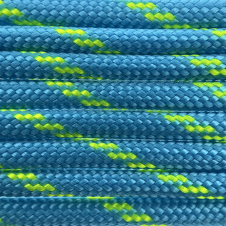 123Paracord Paracord 550 type III Donker cyan / Neon geel