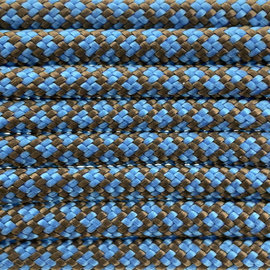 123Paracord Paracord 550 type III Hazelnut Bruin / Dark Baby Blue Diamond
