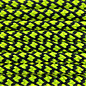 123Paracord Paracord 550 type III Zwart & Ultra Neon Geel Diamond