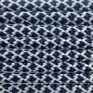 123Paracord Paracord 550 type III Cream / Midnight Blauw Diamond