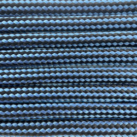 123Paracord Paracord 550 type III Donker baby blauw striped
