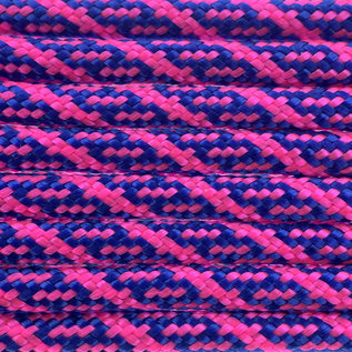 123Paracord Paracord 550 type III Electric Blauw / Ultra Neon Roze Helix DNA