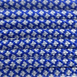 123Paracord Paracord 550 type III Electric Blauw /Zilver Grijs Diamond