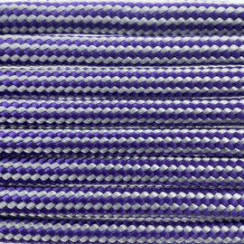 123Paracord Paracord 550 type III Paars Zilver Stripes