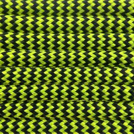 123Paracord Paracord 550 type III Ultra Neon geel & Zwart Shockwave