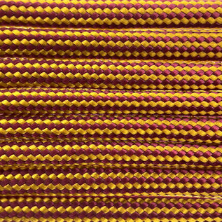 123Paracord Paracord 550 type III Burgundy / Goldenrod Stripes