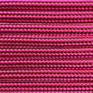 123Paracord Paracord 550 type III Burgundy / Ultra Neon Roze Stripes