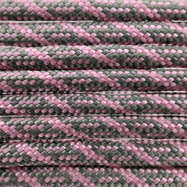 123Paracord Paracord 550 type III Charcoal Grijs / Roze lavender Helix DNA