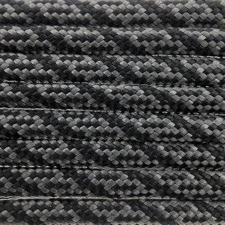 123Paracord Paracord 550 type III Charcoal Grijs / Zwart Helix DNA