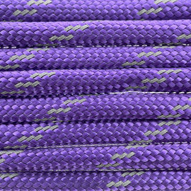 123Paracord Paracord 550 type III Deep Paars Reflective