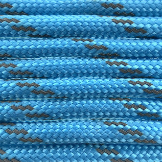 123Paracord Paracord 550 type III Donker Cyan Reflective