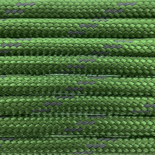 123Paracord Paracord 550 type III Forest groen Reflective
