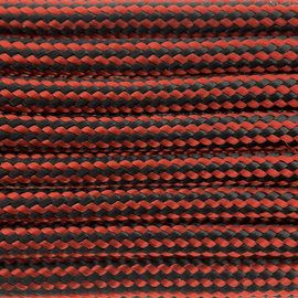 123Paracord Paracord 550 type III Rood / Zwart Stripes