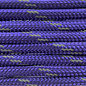 123Paracord Paracord 550 type III Royal Paars Reflective