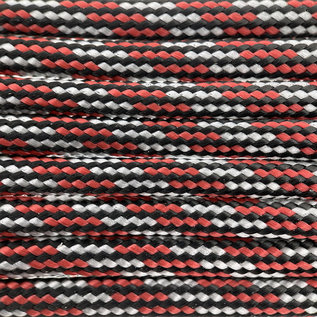 123Paracord Paracord 550 type III Rood/zilver X-mas special