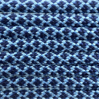 123Paracord Paracord 550 type III Baby Blauw / Midnight Blauw Diamond