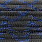 123Paracord Paracord 550 type III Blue Knight Metallic Glitter Black / Blue Tracer X