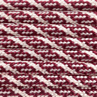 123Paracord Paracord 550 type III Burgundy / Cream Helix DNA