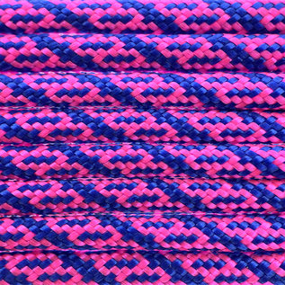 123Paracord Paracord 550 type III Ultra Neon Roze & Electric Blauw Helix