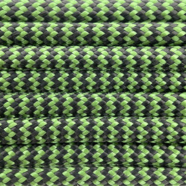 123Paracord Paracord 550 type III Forest groen & Zwart Shockwave