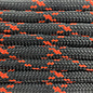 123Paracord Paracord 550 type III Zwart / Neon Oranje X