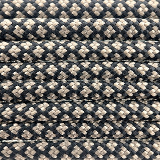 123Paracord Paracord 550 type III Zwart / Tan Diamond