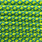 123Paracord Paracord 550 type III Ultra neon Geel / Donker Cyan Diamond