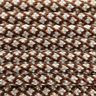 123Paracord Paracord 550 type III chocolate brown / Cream Diamond