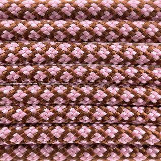 123Paracord Paracord 550 type III chocolate / lavender Roze Diamond