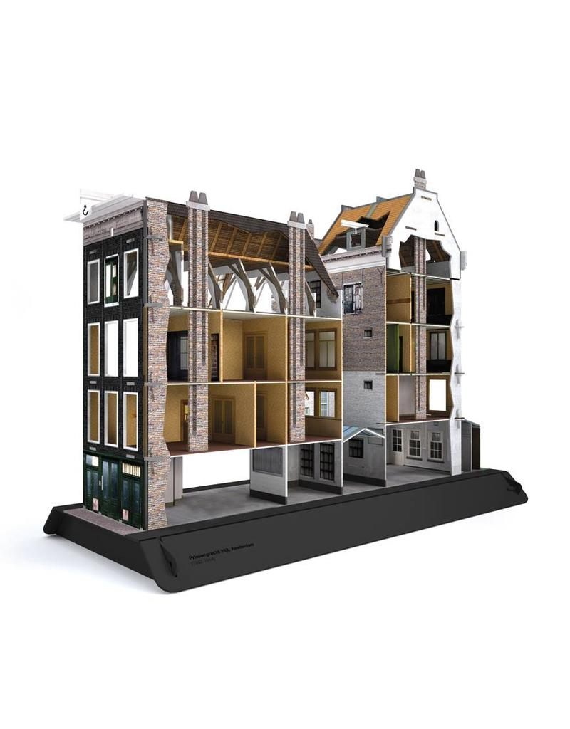 Cardboard model of the Anne Frank House (7 languages)