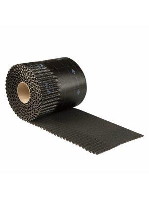 Ubbink Ubiflex Ribbel Loodvervanger, 25 cm x 6 meter, zwart