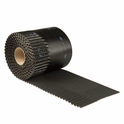 Ubiflex Ubiflex Ribbel Loodvervanger, 25 cm x 6 meter, zwart