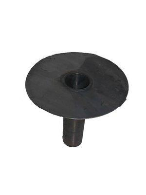 Dak en Lood Loden afvoer MO Ø125 mm 25 ponds, Kort model circa 300 mm gelast
