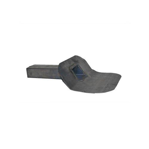 Dak en Lood Loden kiezelbak 60 x 80 mm. 45° Lang model circa 450 mm gelast