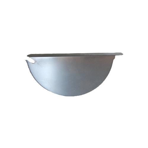 Zinken kopschot voor mastgoot, zonder kraal, links of rechts