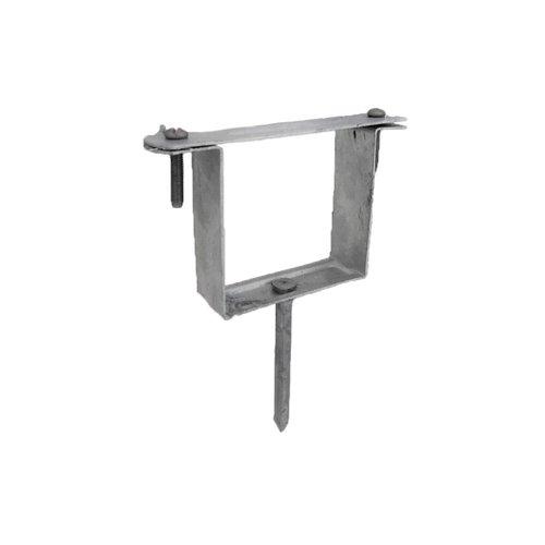 Vierkante beugel met pin voor nis - 80x80mm staal gegalvaniseerd t.b.v. dubbele wrong