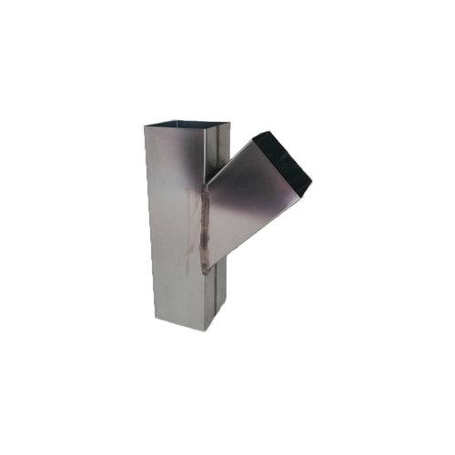 Zinken T-stuk 45gr. - vierkant 80 mm