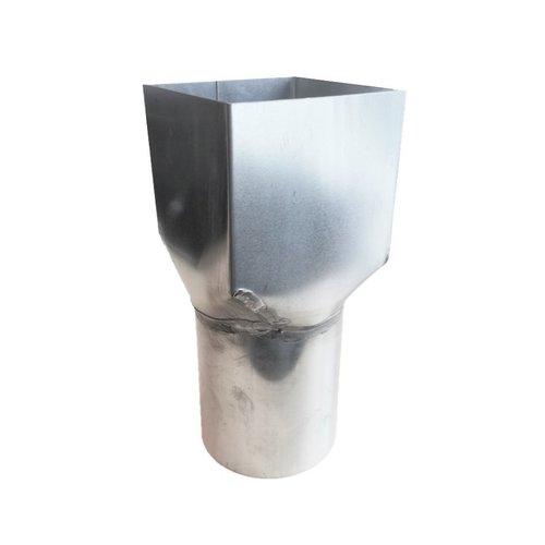Zinken Verloopring/verbindingsmof, vierkant 82mm / rond 78mm
