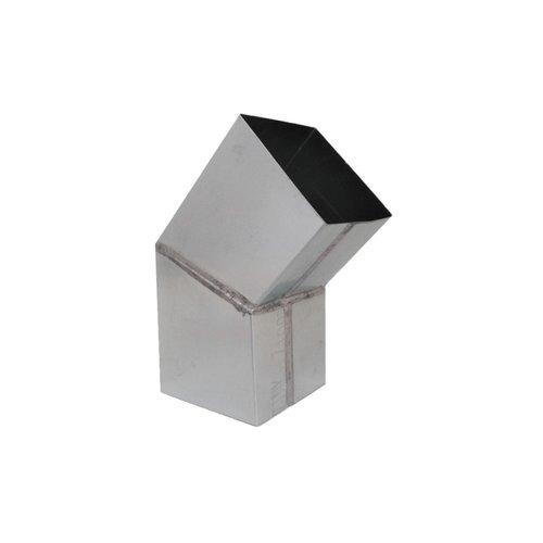 Zinken verstekbocht vierkant - 80x80mm 45gr.