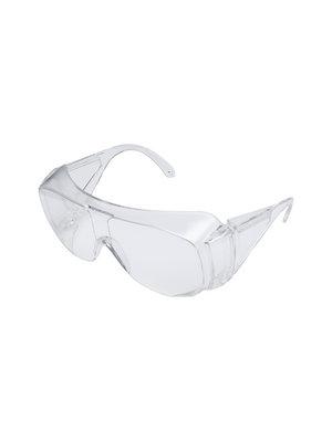 Polycarbonaat overzet veiligheidsbril uni
