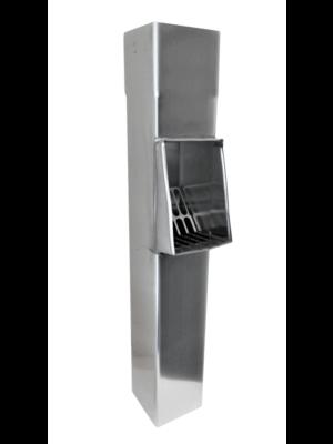 Zinken Bladvanger (RVS Rooster) - Vierkant 80x80 mm