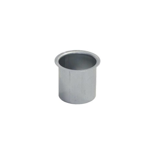 Zinken Tapeind voor bakgoot - Vlak dia. 70 mm, ca. 9 cm past in buis dia. 70 mm
